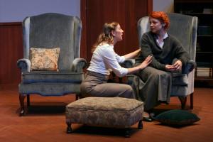 Karen (Emily Belvo) comforts Martha (Katie Castonguay). All photos courtesy of Désirée Fantal.